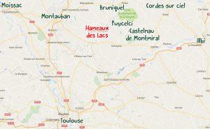 Carte lieux incontournables Les Hameaux des Lac résidence