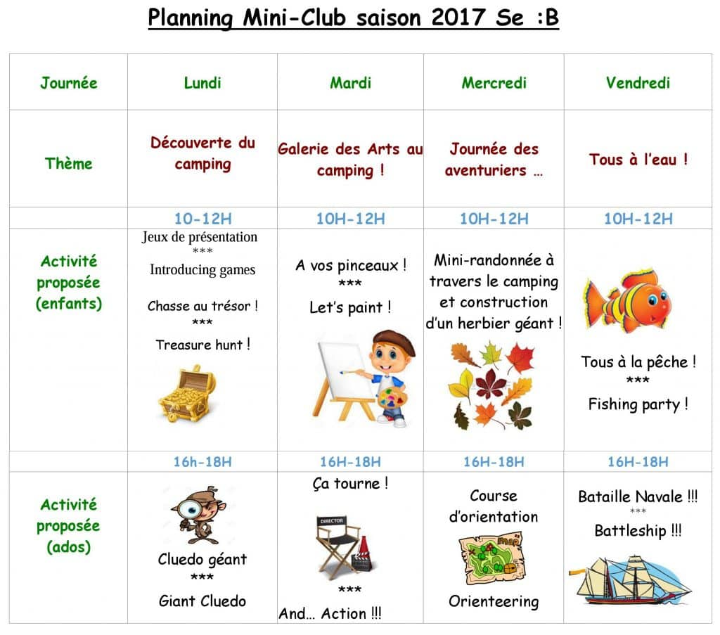 Club-Enfants-Semaine-B Holiday resort with Kids Club in Tarn & Garonne